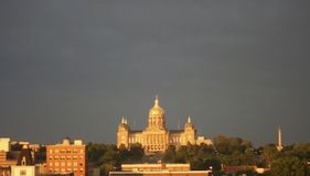 Des Moins capital. The capital building in des moines, iowa Royalty Free Stock Photography