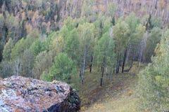Des montagnes de Sayan sont vues dans la distance photos stock