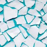 Des morceaux de livre blanc sont arrangés en cercle Di cassés de cercle Images stock