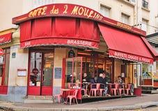 Ο καφές des 2 Moulins (γαλλικά για Στοκ Εικόνες