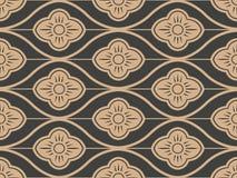 Des Musterhintergrundes des Vektordamastes Querrahmenlinie Blume der nahtlosen Retro- Kurve orientalischen Eleganter brauner Tonl vektor abbildung