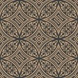 Des Musterhintergrundes des Vektordamastes rahmenketten-Blatt abostract der nahtlosen Retro- Kurve orientalischen runden Quer Ele vektor abbildung