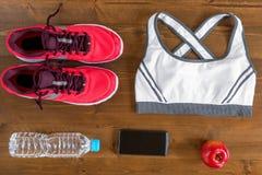 des objets de sports sont situés dans un ordre spécifique Photo stock