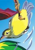 des oiseaux qui alimentent illustration de vecteur