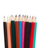 Des outils d'art - colorez les crayons sur le fond blanc Photographie stock