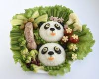 Des pandas il est fait de riz Photographie stock