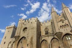DES Papes, Aviñón Francia de Palais Fotos de archivo libres de regalías