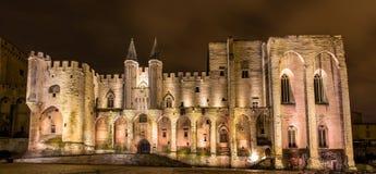 DES Papes de Palais à Avignon, un site d'héritage de l'UNESCO photographie stock libre de droits