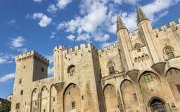 DES Papes, France de Palais d'Avignon Images libres de droits