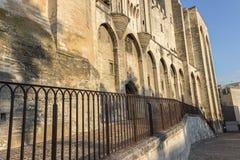 DES Papes, France de Palais d'Avignon Photos libres de droits