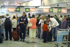 Des passagers sont prévus Image stock
