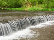 Des Plaines Conservation Area Illinois. Beautiful waterfall on Prairie Creek of the Des Plaines Conservation Area in Illinois Royalty Free Stock Photo
