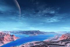 Des planètes plus étranges Photographie stock