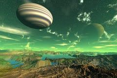 Des planètes plus étranges Photographie stock libre de droits