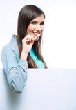Des Porträtgriffs der jungen Frau toothy Bürste Lizenzfreie Stockfotos