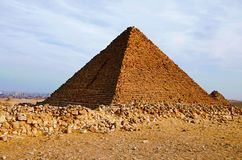Des pyramides, il est le plus vieux des sept merveilles du monde antique et le seul restent en grande partie intact Image stock