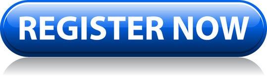 Des Registers blauer Knopf jetzt stock abbildung