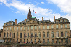 Des Rohan Palace. In Strasbourg France place where the NATO summit took place in April 2009 stock images