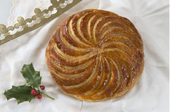 DES Rois, dolce di galette del dolce di epifania di re Immagine Stock