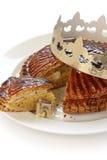 DES rois, gâteau de Galette de roi photo libre de droits