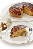 DES Rois, torta de Galette del rey Foto de archivo libre de regalías