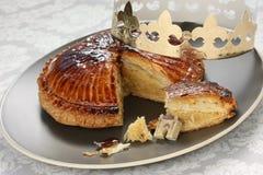 DES Rois, torta de Galette del rey Fotos de archivo