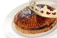 DES Rois, torta de Galette del rey Imagenes de archivo