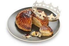 DES Rois, torta de Galette del rey imagen de archivo