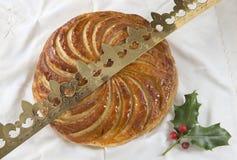 DES Rois, torta del galette de la torta de la epifanía del rey Fotos de archivo