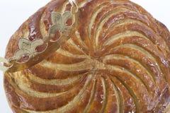 DES Rois, torta del galette de la torta de la epifanía del rey Foto de archivo