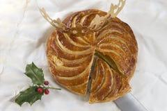 DES Rois, torta del galette de la torta de la epifanía del rey Imágenes de archivo libres de regalías