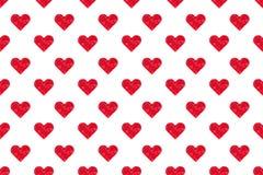 Des rosa nahtloser Hintergrund Herz-Musters des Polygons Stockfoto