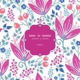 Des rosa nahtloses Muster Blumen-Rahmens des Vektors Stockfoto