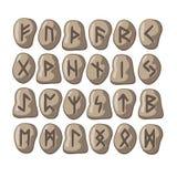 Des runes scandinaves sont faites en pierre Image libre de droits