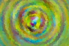 Des schönen Mosaikhintergrundbewegungs-Strudeltiefe daimond Schnee Steigungsgrüns des Musters gelbe lila Ton- viele Scherben stockbild
