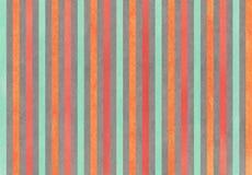 Des seafoam, Roten und Grauen der Aquarellkarotte gestreifter Hintergrund der Orange, Lizenzfreies Stockfoto
