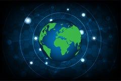 Des signaux du réseau de transmission sont situés autour du monde Photographie stock libre de droits