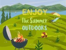 Des Sommers Konzept draußen Stockbild