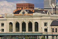 Des syndicats de gare le centre ville dedans de Denver photos libres de droits