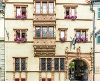 DES Têtes de Maison de La à Colmar Photo stock