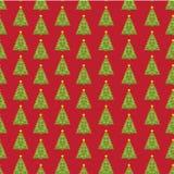 Des Tannenbaums des neuen Jahres des Pixels nahtloser Hintergrund Stockfotografie