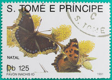 Des timbres-poste avaient été imprimés au Sao-Tomé-et-Principe Image stock