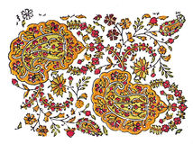 DES traditionnel indien de textile illustration stock
