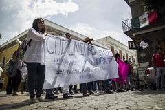 Des universités sont manifestées par femicide de Mara Fernanda Castilla Miranda photos stock