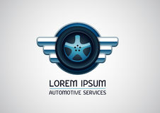 Des véhicules à moteur, services de voiture, logo de vecteur Images stock