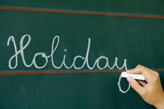 Des vacances de mot de table image libre de droits