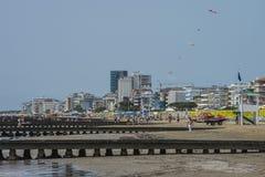 Des vacances en Lido di Jesolo (sur la plage) Image libre de droits