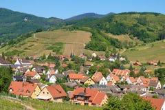 DES Vins dell'itinerario dell'Alsazia Immagine Stock