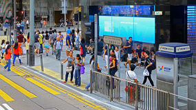 Des voeux road, central, hong kong Stock Photos