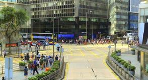 Des-voeuxväg, central, Hong Kong Arkivfoto